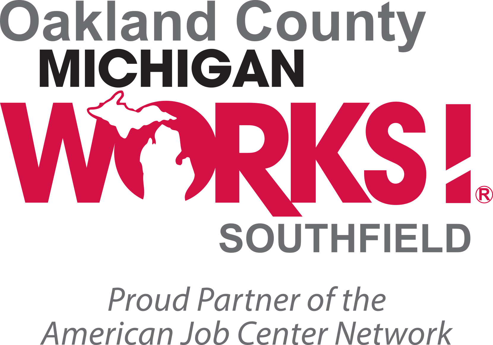 Oakland County Michigan Works Southfield Logo